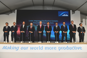 Linde groundbreaking ceremony Singapore