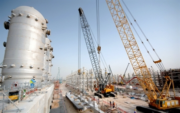 Linde PLANTSERV performance and efficiency, plant revamps and modernisations. Air Separation Plant Pearl GTL in Qatar, Construction site
